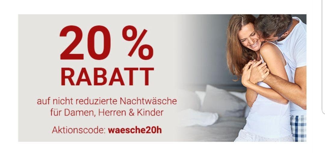 [ Karstadt ] 20% auf Nachtwäsche