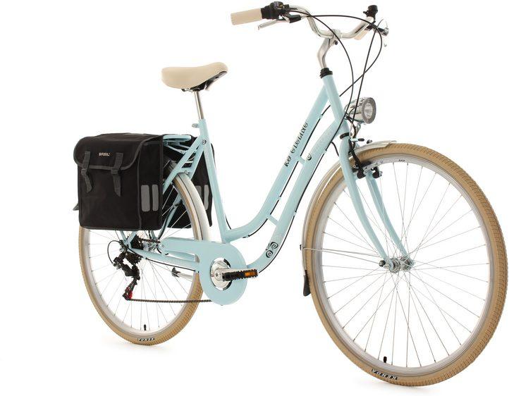 50€ Rabatt ab 250€ bei Plenty One: KS Cycling Cityrad »Verona«, 6 Gang Shimano Tourney Schaltwer inkl. Doppeltasche