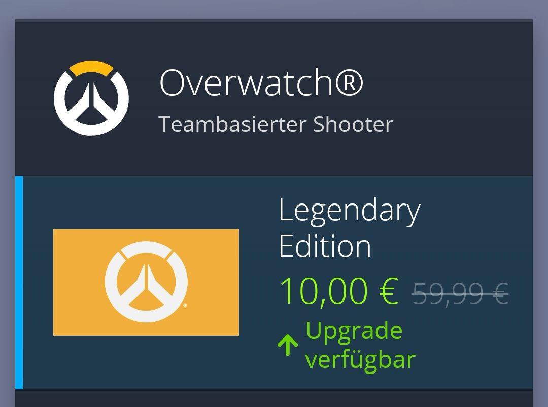Overwatch Upgrade auf die Legendary Edition