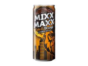Kong Strong Mixx Maxx Cola & Orange Energy Drink 0,33 Dose für 33ct bei LIDL + Monster Juice 0,85