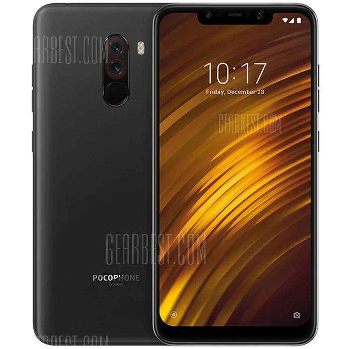 Xiaomi Pocophone F1 6,18 Zoll 4G Smartphone Globale Version - GRAPHITSCHWARZ oder BLAU 6 + 64GB
