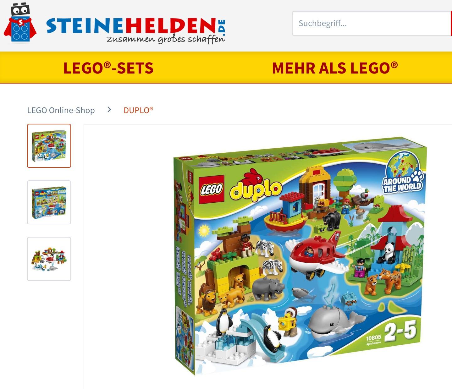Bestes Lego DUPLO Set aktuell am Markt (inkl. Held der Steine Video) 10805 Einmal um die Welt bei Steinehelden.de / digitalo