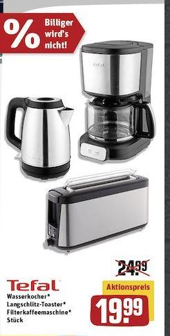 Tefal Element Wasserkocher, Kaffeemaschine, Toaster bei Rewe (offline, Lokal)
