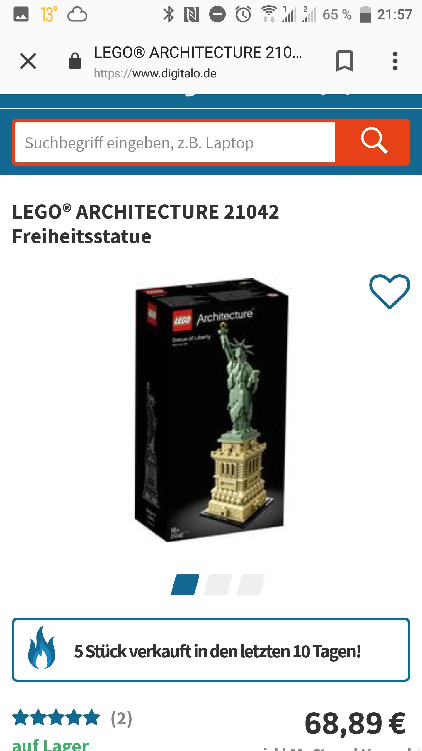 Lego 21042 Freiheitsstatue zum aktuellen Tiefpreis
