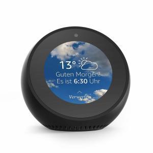 Amazon Echo Spot, Zertifiziert und generalüberholt, Schwarz