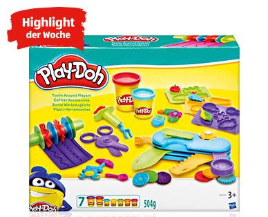 Play-Doh Set mit 7 Bechern Knete und zahlreichem Zubehör - erster Adventskalender quasi bestückt! [Aldi Süd ab 29.10. - Nord ab 31.10.]