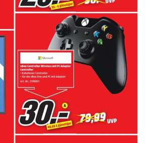 [Lokal Media Markt Nürnberg - Kleinreuth] Microsoft XBox One Wireless Controller inkl. PC Adapter