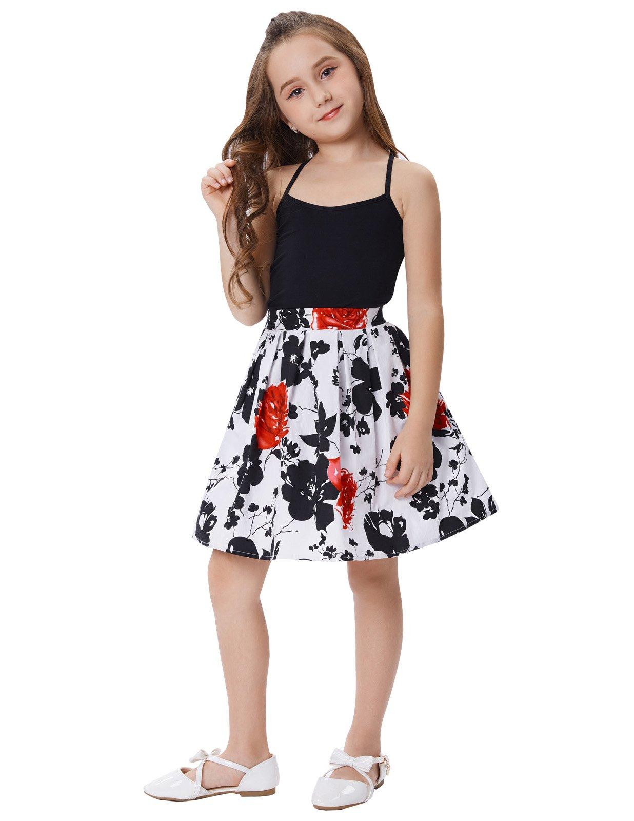 Flowerpower schöne Mädchen Röcke retro