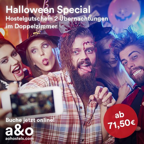 A&O Gutschein: 2 Nächte in einem von 30 A&O Hotels für 71,50€ inkl. Frühstück