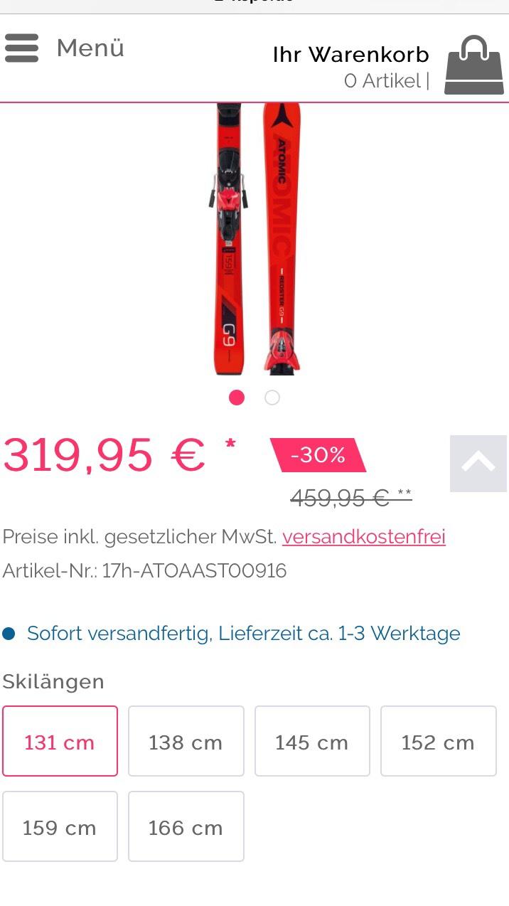 Atomic Redster G9 (2018) für 319,95€ in allen Größen