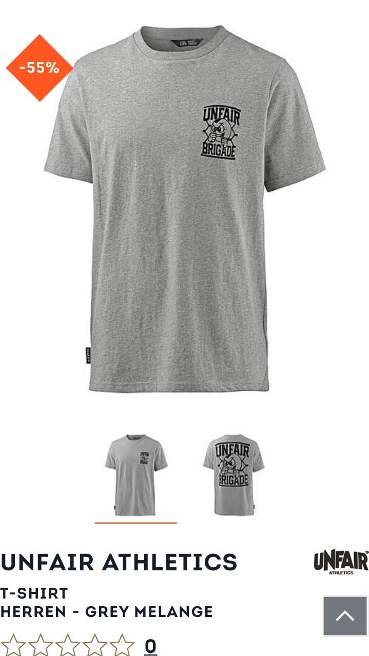 [Sportscheck] Unfair Athletics Tshirt grau in den Größen S, L, M, XL für 14,95€ !mit SportScheck extra Artikel!