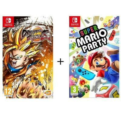 Dragon Ball FighterZ + Mario Odyssey / Super Mario party / Mario Kart 8 Deluxe oder Splatoon 2 (Switch) für 69.99€ (Cdiscount)