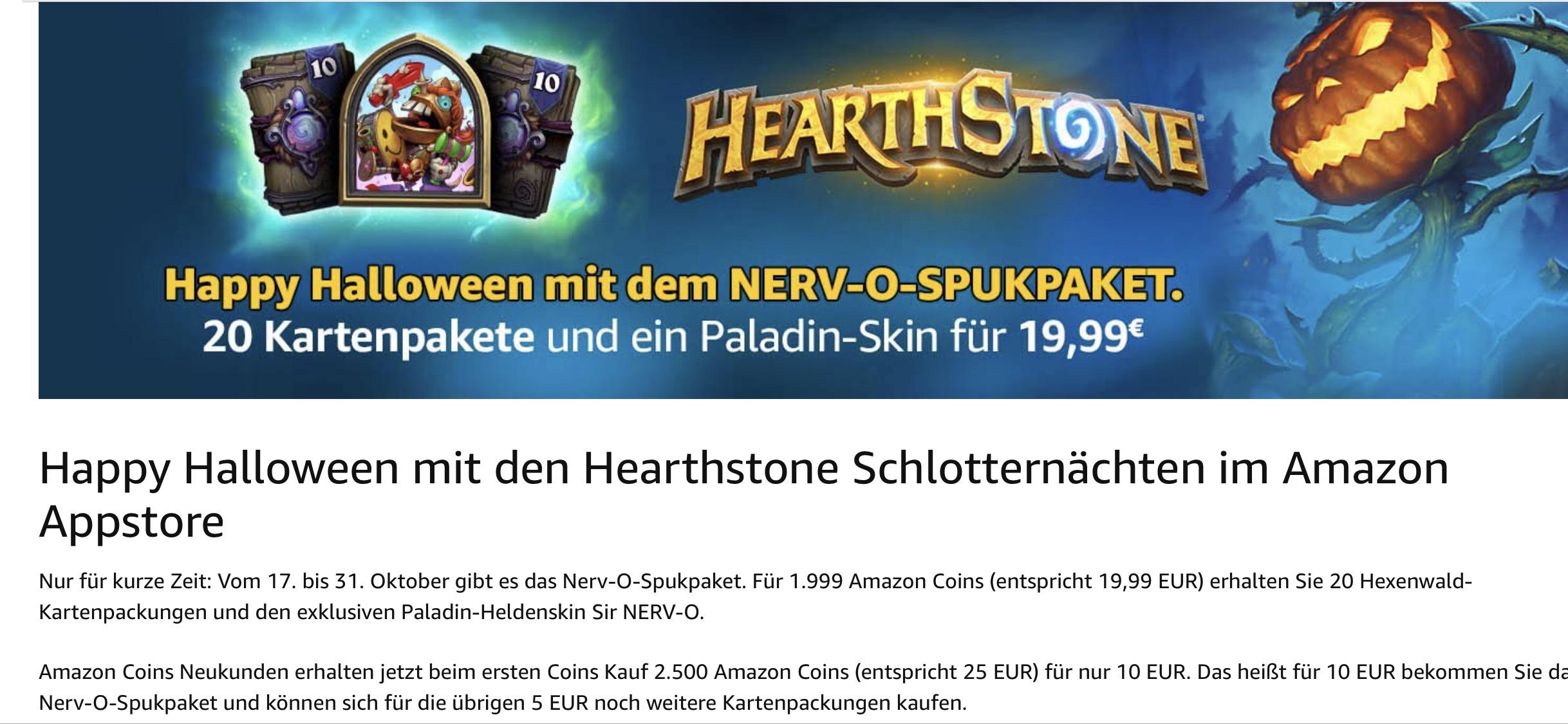 [Neukunde] Amazon 2.500 Coins Hearthstone