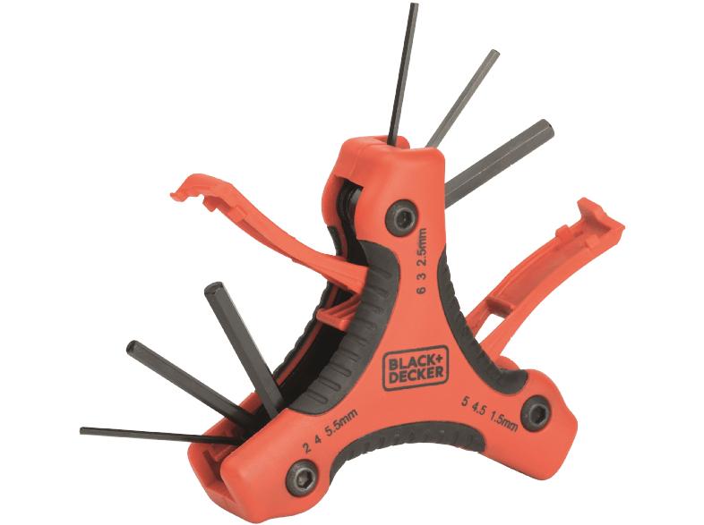 ( Media Markt Online ) BLACK+DECKER 9-tlg. Set Triangel Stiftschlüssel