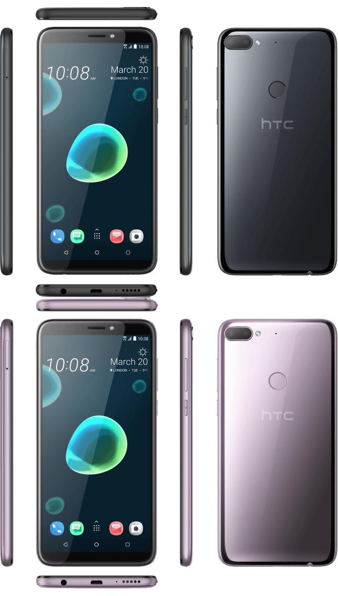 HTC Desire 12+ 32 GB Schwarz / Silver Purple Dual SIM
