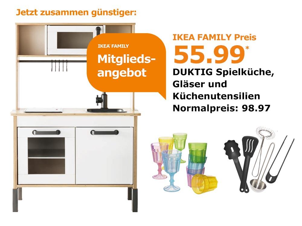 [Ikea Family] Duktig Spielküche inkl. Glas und Küchenutensilien deutschlandweit