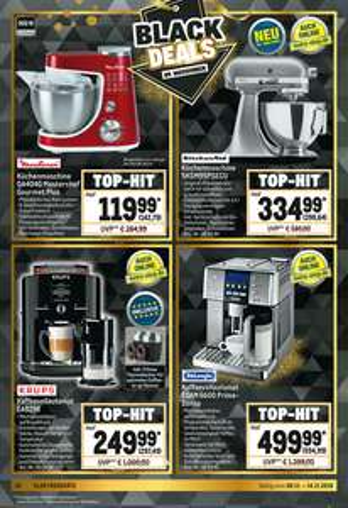 KitchenAid 5KSM95PSECU 4,3l, silber (Metro ab 08.11) + Kassenbon-Aktion!, De'Longhi PrimaDonna ESAM 6600 für 594,99 €
