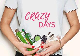 1. Produkt gratis (MBW 10€) bei den Crazy Days bei Yves Rocher, z.B. Lidschattenpalette + Duschöl + Haaröl