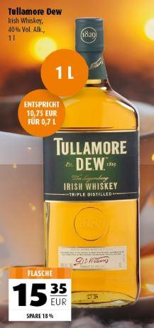 [Lokal, Scandinavian-Park, Handewitt bei Flensburg] - Tullamore Dew, Original Whiskey, 1 L für 15,35 €