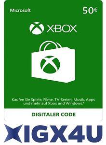 Xbox 50€ Guthaben für 42,49€