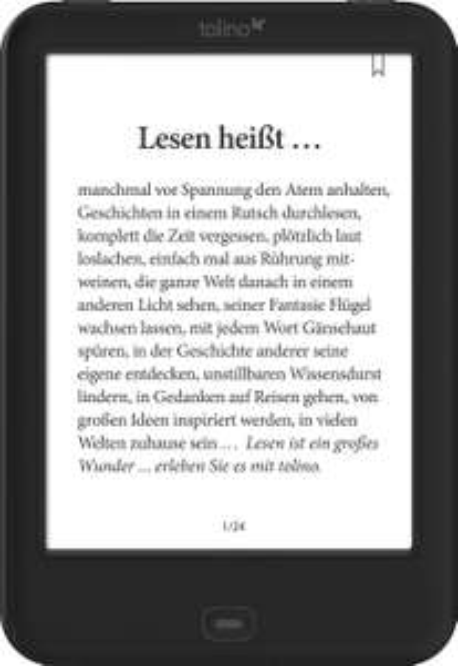 tolino shine 2 HD eBook-Reader für 83,30€ [Weltbild]