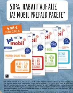 Ja! Mobil Prepaid Pakete Rewe und Rewe City/Center