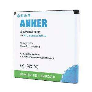 [Amazon] Anker® 1900mAh Li-ion Akku für HTC Sensation, Sensation XE, EVO 3D, Mytouch 4G Slide