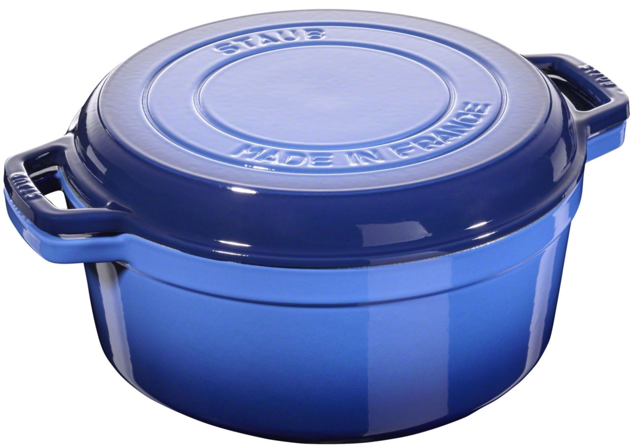 Staub 2-in-1 Cocotte und Grillpfanne (28cm, 6.1 Liter, für alle Herdarten, gusseisern mit Emaillierung, spülmaschinengeeignet)