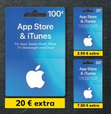 Bis zu 20% zusätzliches iTunes Guthaben [Kaufland ab 01.11.]