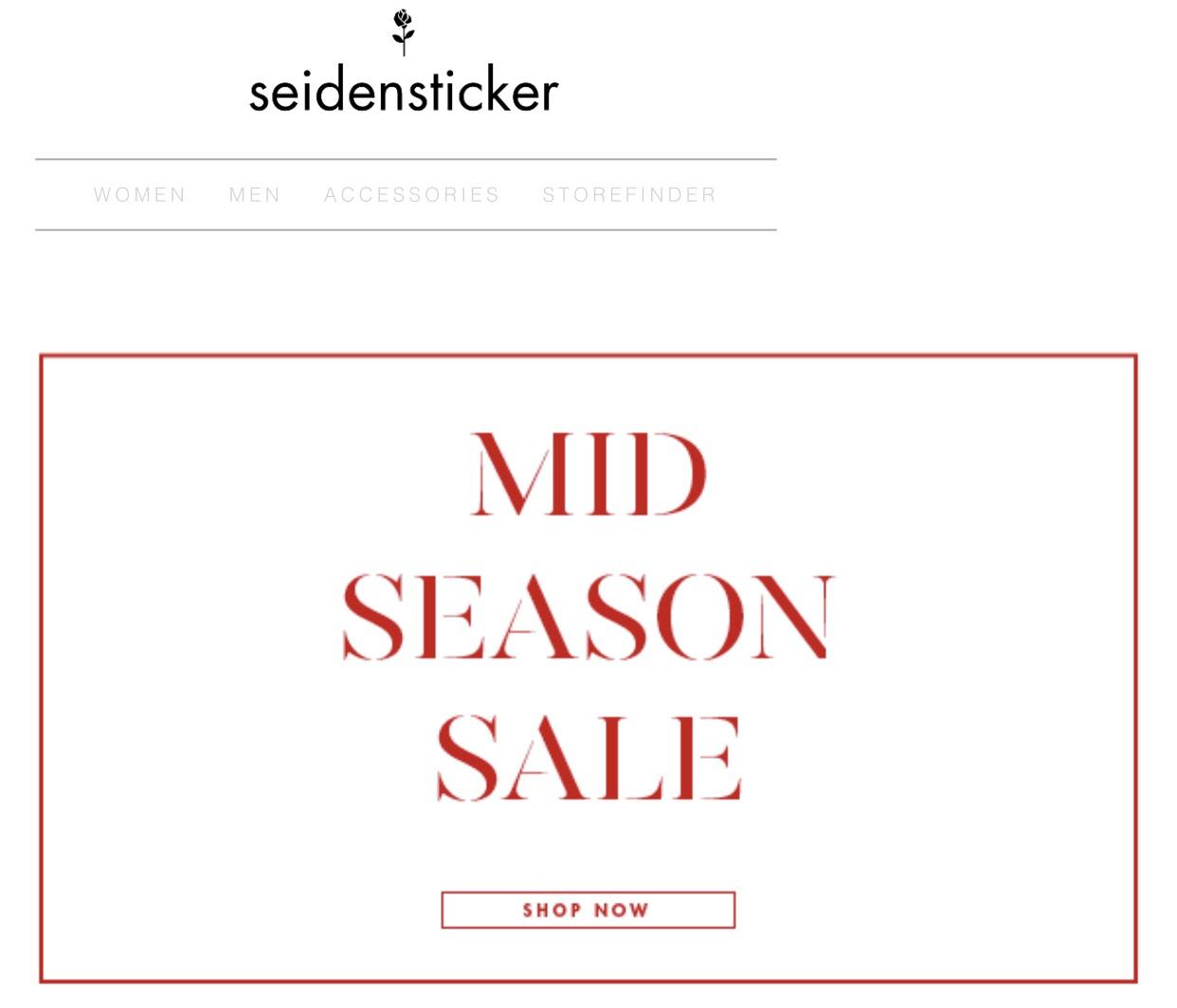 *Seidensticker* Mid Season Sale bis zu 50% Rabatt - Damen / Herren