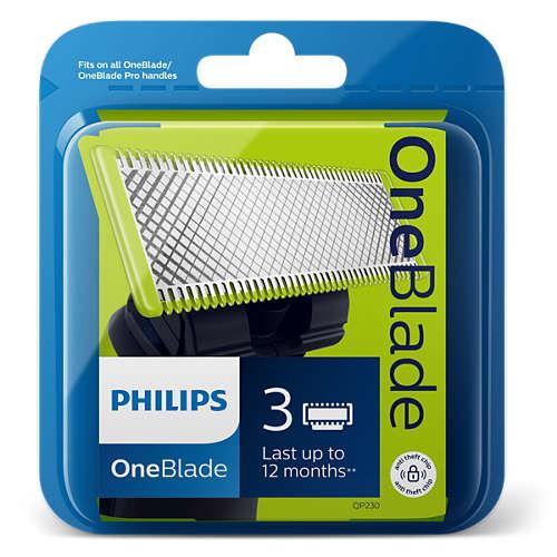Philips OneBlade Ersatzklinge - 3 Stück für 24,99€ bei Newsletteranmeldung VSK-frei