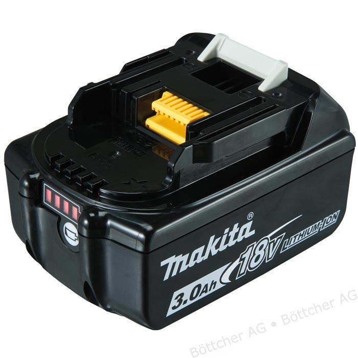 [Online-Tagespreis] Makita Werkzeug-Akku BL1830B, 197599-5, 18V / 3,0Ah, Schiebeakku mit LED Ladestandanzeige