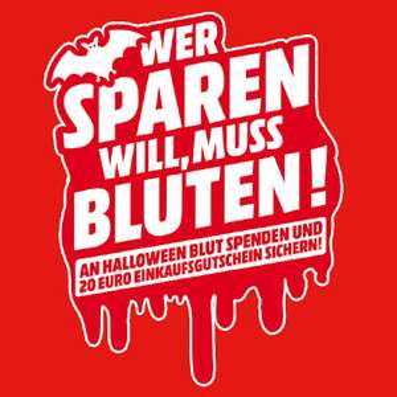 Jetzt auch in Stralsund (Strelapark): Blut spenden und 20€ Mediamarkt Gutschein erhalten