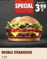 Double Steakhouse bei Burger King für 3,99 Euro mit Code 11310