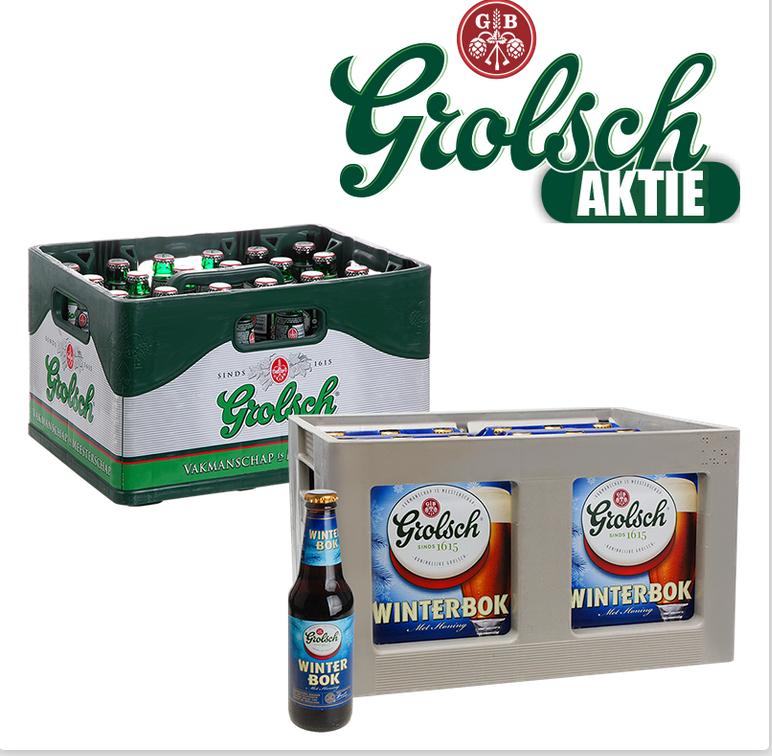 Terhuurne, Lokal für Grenzgänger NL; Nähe Ahaus] 1 Kiste Grolsch & 1 Kiste Grolsch Winterbok (jeweils 24x0,3l)
