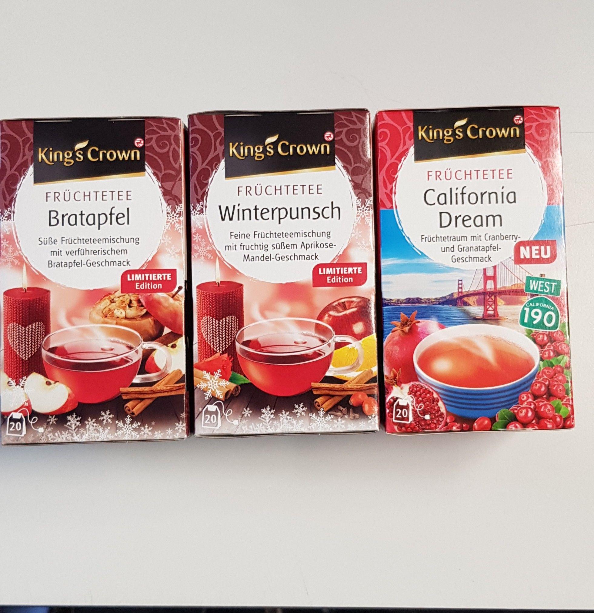 Rossmann 3 für 2 King's Crown Tee verschiedene Sorten  - 0,59 € pro Packung (18 / 20 Beutel)