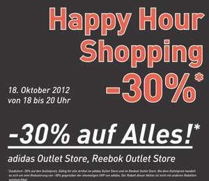 [Lokal Herzogenaurach] Donnerstag 18-20 Uhr 30% Happy Hour Shopping ADIDAS Outlet -30% auf alles