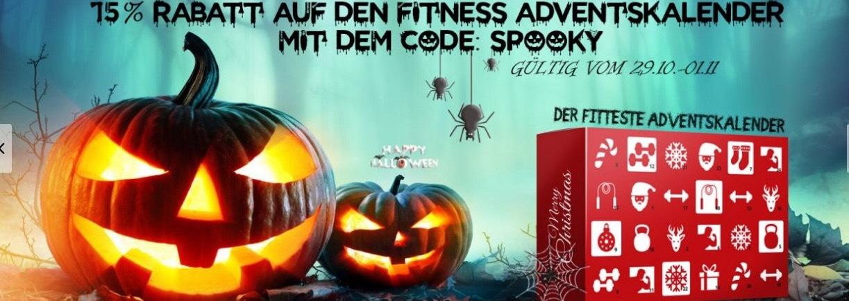 Halloween Aktion Sport & Fitness Adventskalender mit Protein Riegel uvm. -15%