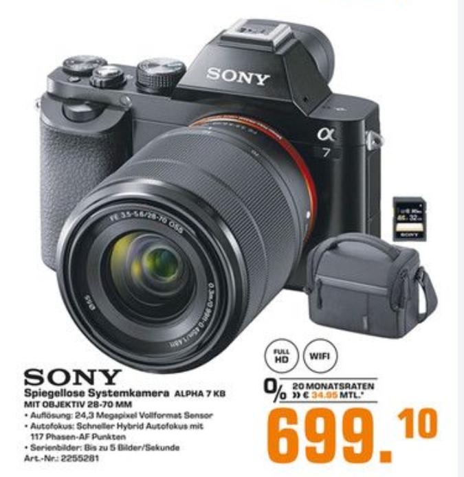 Sony Alpha 7 KB Kit mit 28-70 mm Objektiv -  Vollformat 24,3 MP [Lokal Duisburg?]