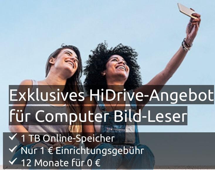 Exklusives HiDrive-Angebot für Computer Bild-Leser 1 TB Online-Speicher bei Strato