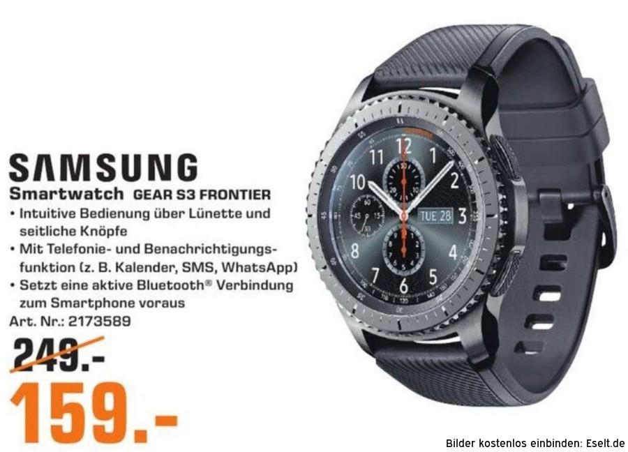 """Samsung™ - Smartwatch """"Gear S3 Frontier"""" für €159.- [@Saturn Kiel]"""