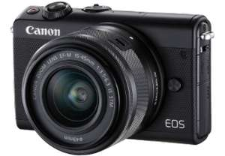 [MediaMarkt, Amazon ] CANON EOS M100 Kit Systemkamera 24.2 Megapixel mit Objektiv 15-45 mm f/6.3, 7.5 cm Display Touchscreen, WLAN