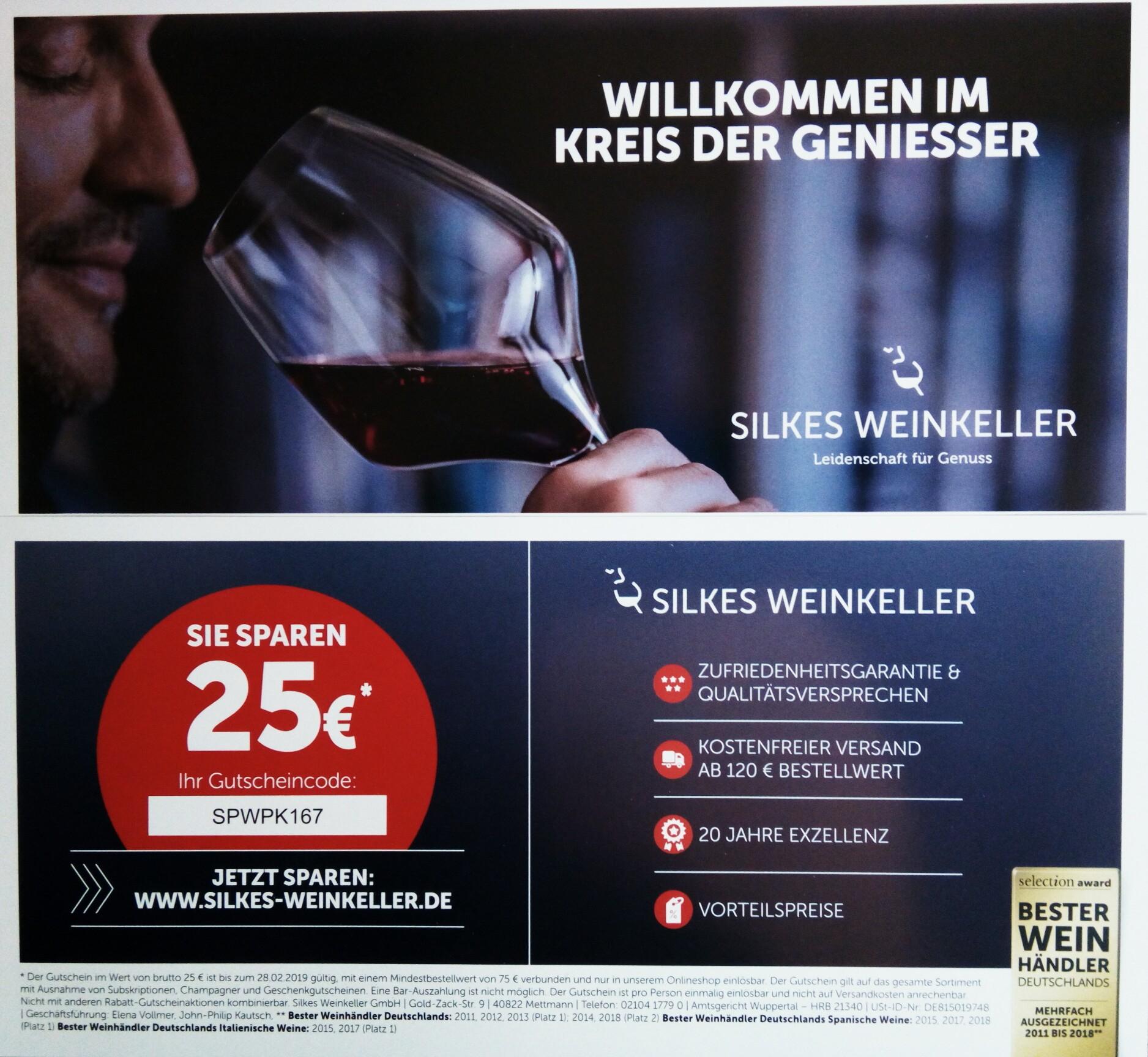 25€ sparen bei Silkes-Weinkeller.de