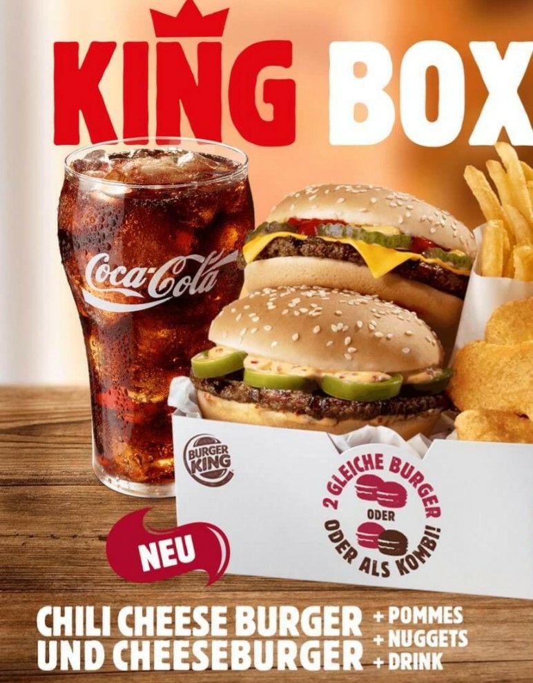 Burger King - King Box jetzt neu mit Chili Cheese Burger