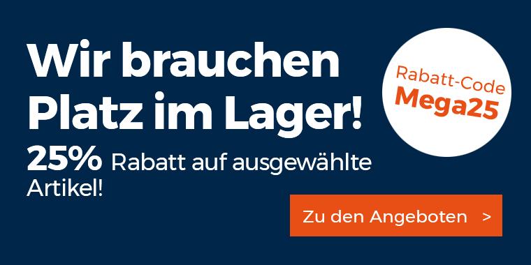 Mega Sale bei werkzeugstore24 - 25% Rabatt auf ausgwählte Artikel (Makita, Bosch blau, Fein, Festool..)
