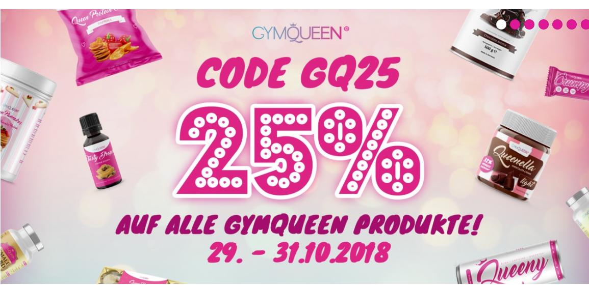 25% Rabatt bei gymqueen.de auf alle GymQueen-Produkte