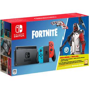 Saturn: Nintendo Switch Fortnite Bundle Neon-Rot / Neon-Blau. Versandkostenfrei!