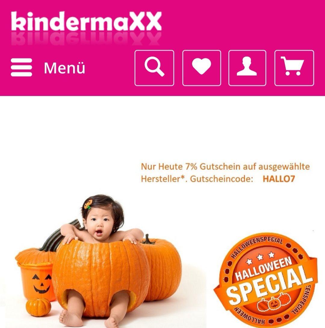 Kindermaxx 7% Gutschein nur heute auf ausgewählte Marken +3% bei Vorkasse
