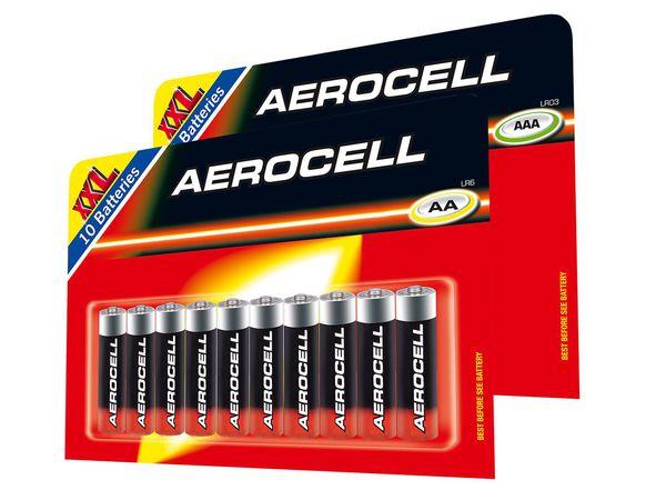[Lidl] 10 x Aerocell AA- oder AAA-Batterien für 1,59€