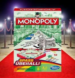 (Marktguru) 1,00€ Cashback beim Kauf von Hasbro Monopoly Kompakt (Reisespiel)